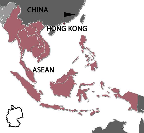 Karte Hong Kong